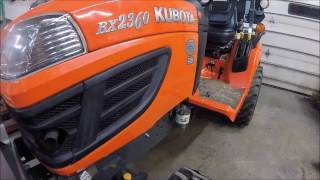 How to Check the Fluids and Lubricate a BX