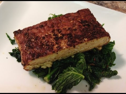 Blackened Tempeh Recipe w/ Spicy Steamed Kale & Spinach – HASfit Vegan Recipes Vegetarian