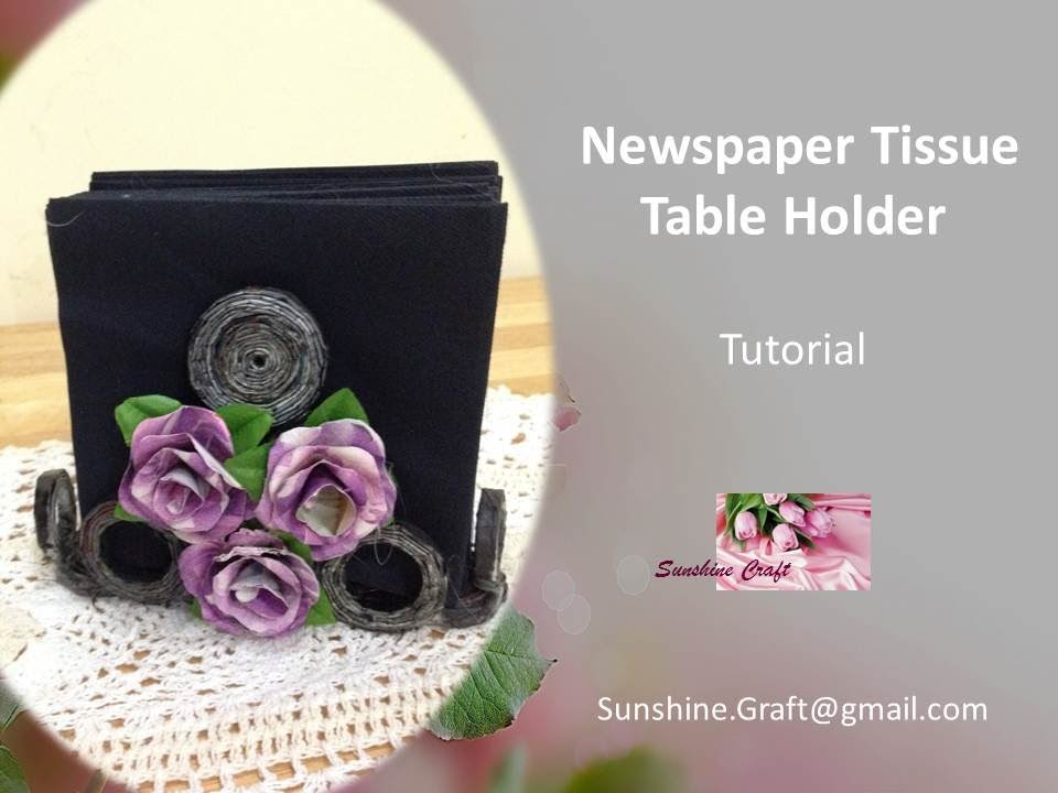 Diy newspaper napkins holder tutorial youtube solutioingenieria Image collections