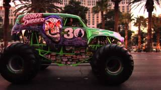 Monster Jam - World Finals 2012 - Grave Digger 30th Anniversary Parade on the Las Vegas Strip