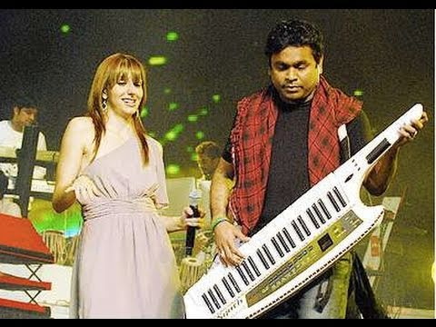 Natalie with A.R. Rahman in Bangalore (Behind-the scenes)