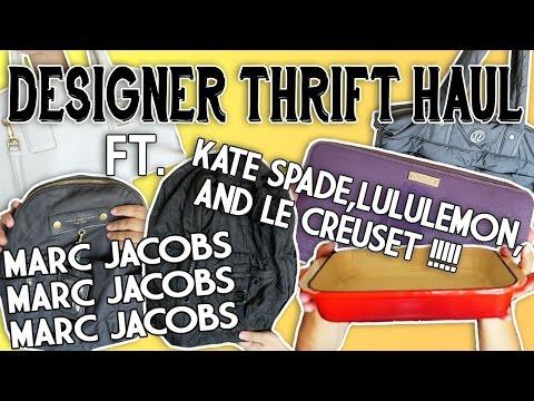 DESIGNER THRIFT HAUL FT. MARC JACOBS, LULULEMON, KATE SPADE, MADEWELL, & LE CREUSET
