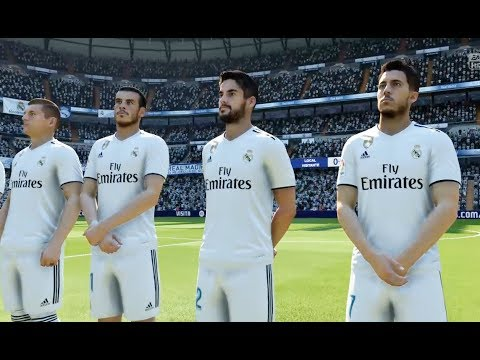 Real Madrid vs FC Barcelona - Gameplay Nouveaux Maillots 2019 FIFA 18