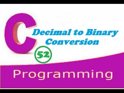 write a c program to convert any decimal number to its equivalent binary number