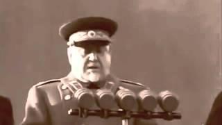 Военный парад 7 ноября 1953 на Красной пл. Москва, командунет, маршал Булганин, кинохроника СССР