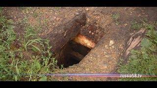 На Олимпийской аллее в Пензе нашли закопанный в землю сруб