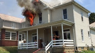 Newark Ohio Fire Department 252 Woods Ave Working House Fire Incident Command