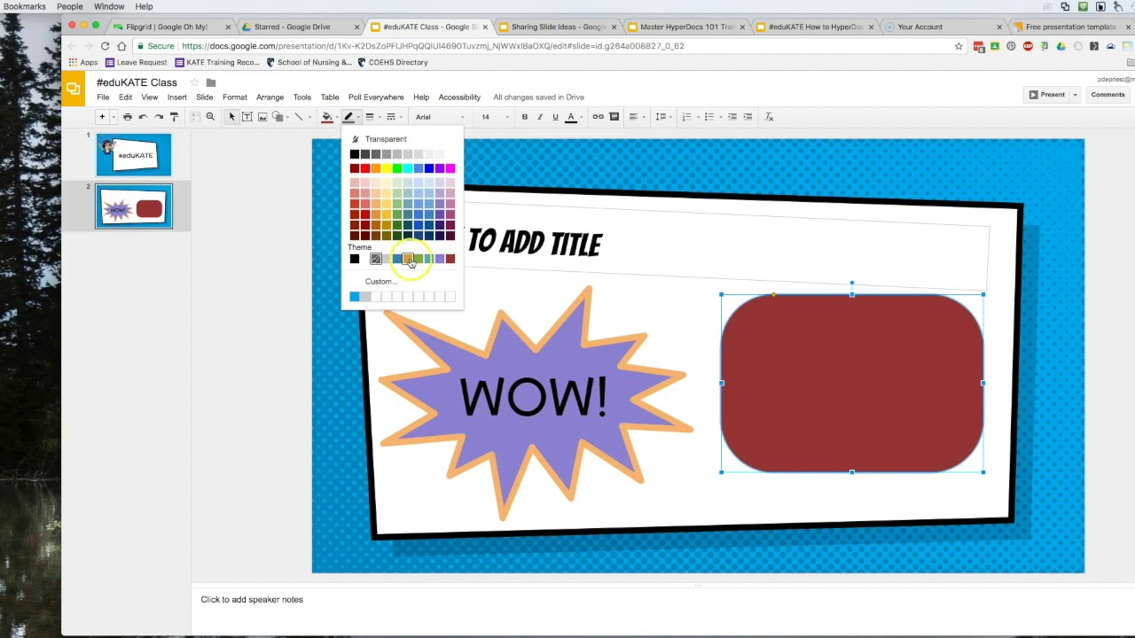 google slides including drawing tools youtube