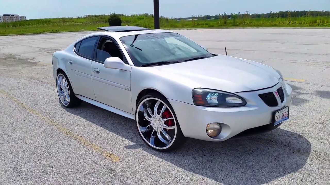 Pontiac 2005 pontiac grand prix gxp : 2005 Pontiac GRAND PRIX GT WIDETRACK on 24s - YouTube