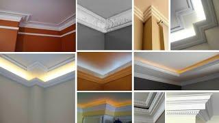Ceiling Corner Crown Molding Ideas|false ceiling design||false ceiling for bedroom|false ceiling