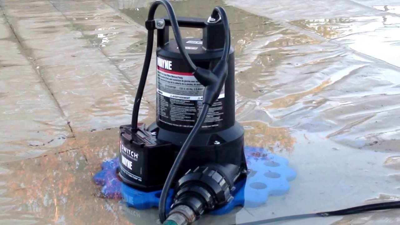 Water Removal Pool Cover Pump Wayne Wapc250 1 4 Hp