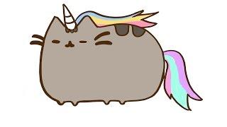 How to draw Cute Pusheen the cat Unicorn
