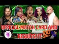 WWE Money in the Bank official Match Card and Results predictions !!!