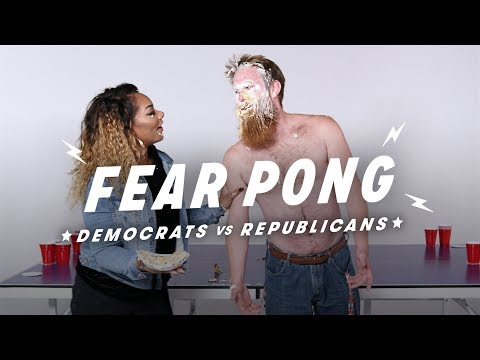 Democrats and Republicans Play Fear Pong (Andrew vs. Shakera)