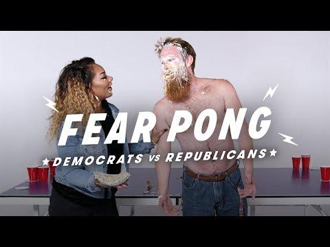 Democrats and Republicans Play Fear Pong (Andrew vs. Shakera)   Fear Pong   Cut