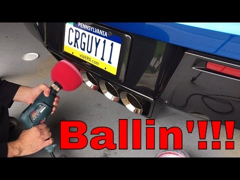 Mother's Polish Ball Review on Exhaust Tips!!! - C7 Corvette