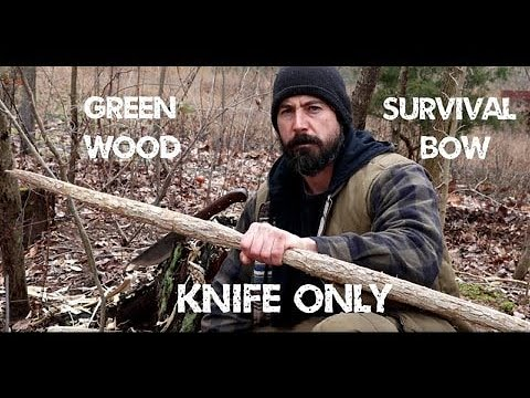 Make a survival bow and arrow