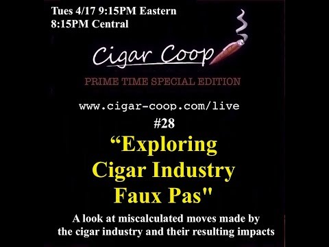 Prime Time Special Edition #28 – Exploring Cigar Industry Faux Pas
