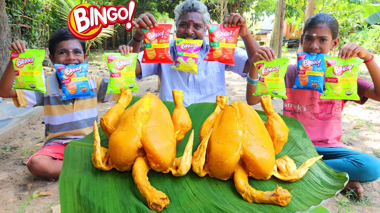 BINGO CHICKEN | Crispy Bingo Chicken Roast | Bingo Fried Chicken Recipe | Farmer Cooking