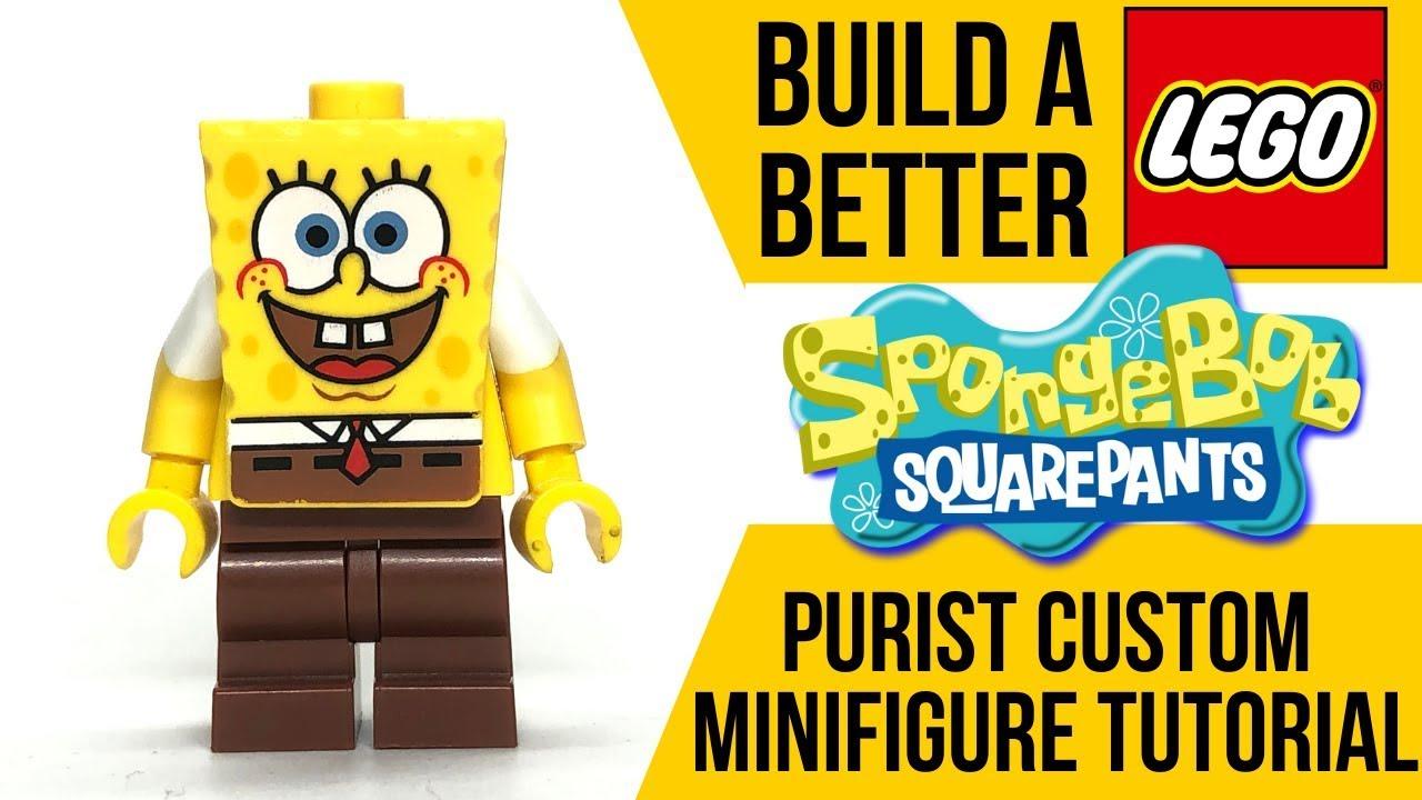 100/% Lego Patrick Minifig Spongebob Squarepants 3834 3827 Bikini Bottom NEW