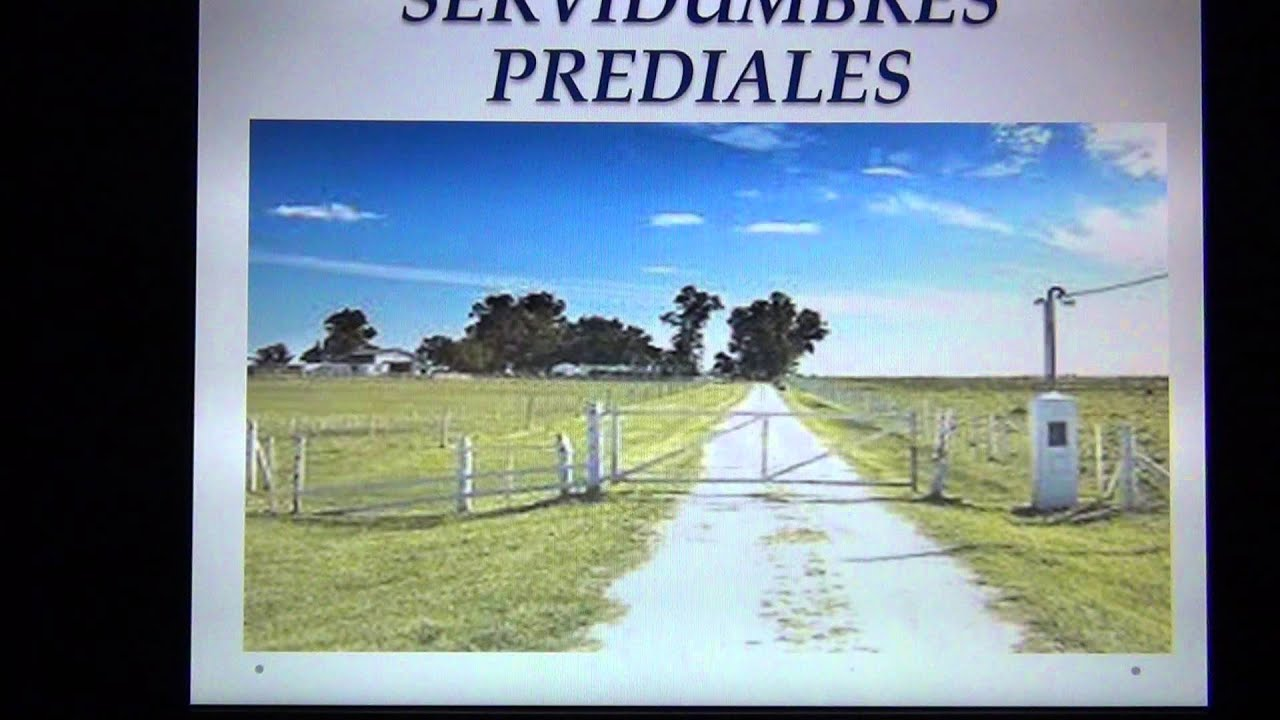 DERECHO ROMANO PRIMER SEMESTRE : LA SERVIDUMBRE Y SUCESIONES VIDEO