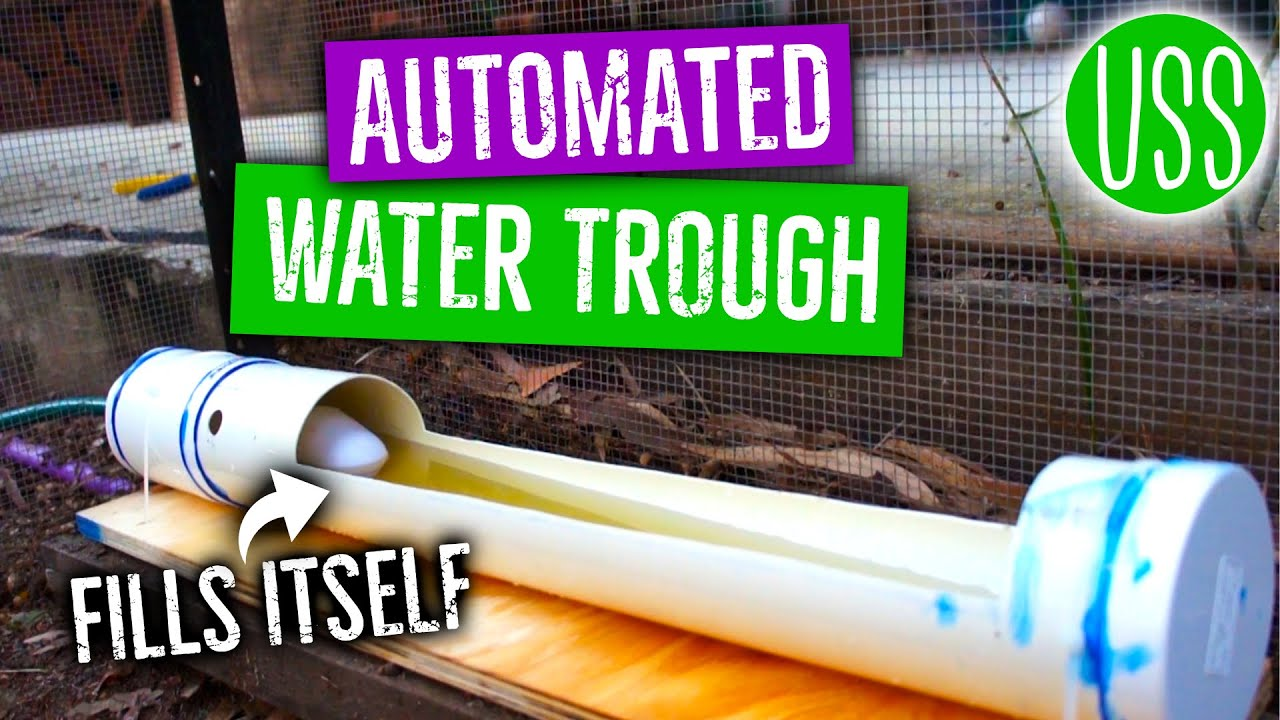 How To Make An Automated Chicken Water Trough Youtube