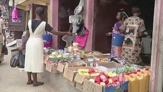 Guinée equatoriale, Les petits commerces de la ville de Bata