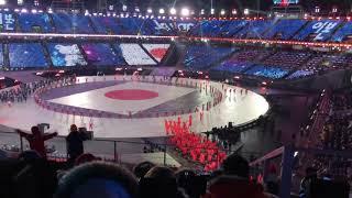 現地映像☆平昌オリンピック開会式 日本選手団の入場行進2月9日