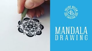 JJBLN | How to Draw Tiny Mandala for Stress Relief - Speedy Time Lapse Drawing