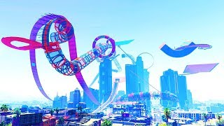 IMPOSSIBLE STUNT CITY! (GTA 5 Races)