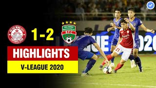 Highlights TP HCM 1-2 Bình Dương | Công Phượng chạy chỗ như CR7 ghi bàn đẹp mắt |Vòng 8 VLeague 2020
