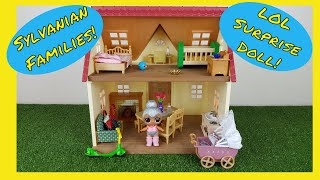 Sylvanian Families Calico Critters House & LOL Surprise!  Lil Sisters Baby Doll - PART 1