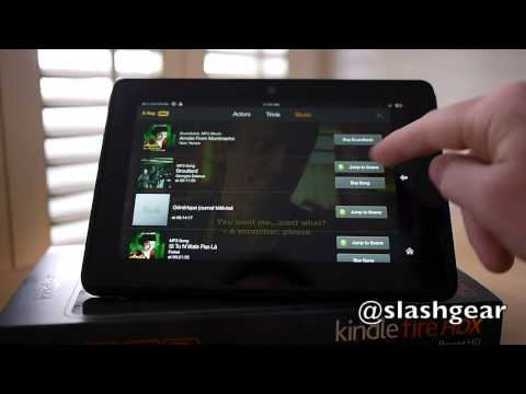 Amazon Kindle Fire HDX X-Ray for Movies and Music demo