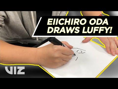 Eiichiro Oda Draws Luffy | Thank You Shonen Jump Members!