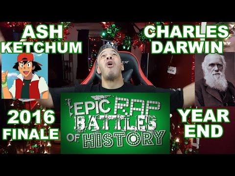 Ash Ketchum vs Charles Darwin. Epic Rap Battles of History REACTION!!!