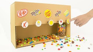 How To Make Candy Dispenser Vending Machine from Cardboard