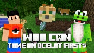 Minecraft | Who Can... Tame an Ocelot First? w/ YoshiToMario