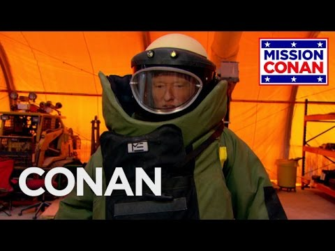 Conan Joins The Explosive Ordnance Disposal Division - CONAN