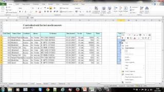 Tutorial Excel - 4. Cautare, sortare si filtrare