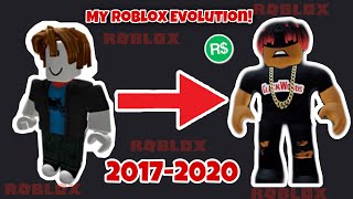 My Roblox character Evolution 2017-2020