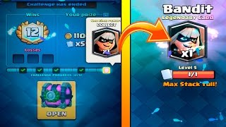 12 WINS ''BANDIT CHALLENGE'' STRATEGY :: Clash Royale :: LEGENDARY BANDIT CHEST OPENING!