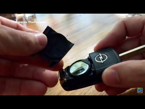 how to change a vauxhall opel key battery 2017
