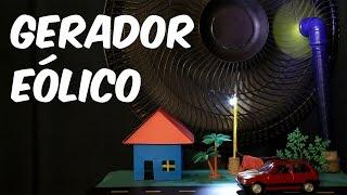 Minigerador eólico - transforme vento em energia elétrica!