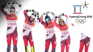 Switzerland wins first-ever Olympic Alpine Team Event | Day 15 | Winter Olympics 2018 | PyeongChang