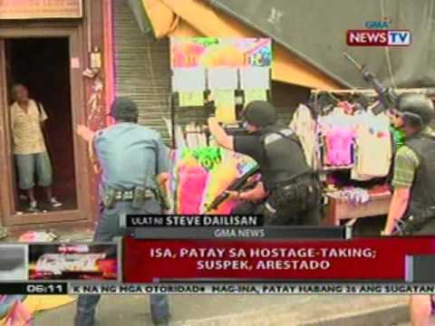 QRT:  1, patay sa hostage-taking sa Sampaloc,   Manila