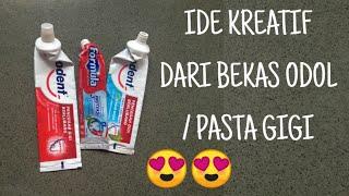 Ide Kreatif Pasta Gigi Bekas | Jam Dinding Merak Hias | DIY Craft Best Out of Toothpaste Waste