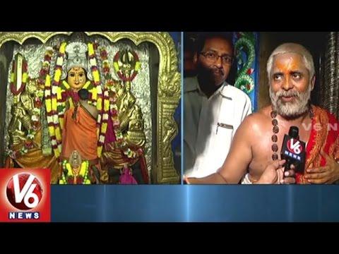 Devotees Throng To Bhadrakali Temple | CM KCR Offer Golden Crown To Goddess | V6 News