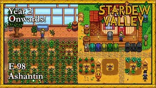 Stardew Valley 2019 Year 2 Onwards! E98 Real Progress Towards The Bottom Of Te Mines