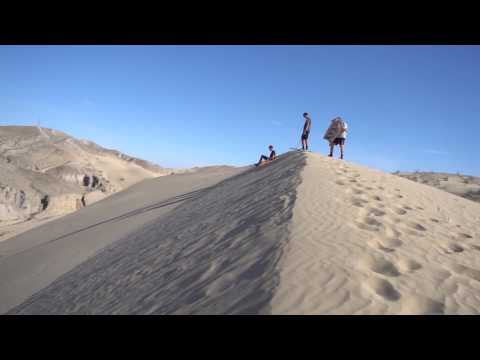 Behind the scenes SAND DUNE BODY BOARDING!