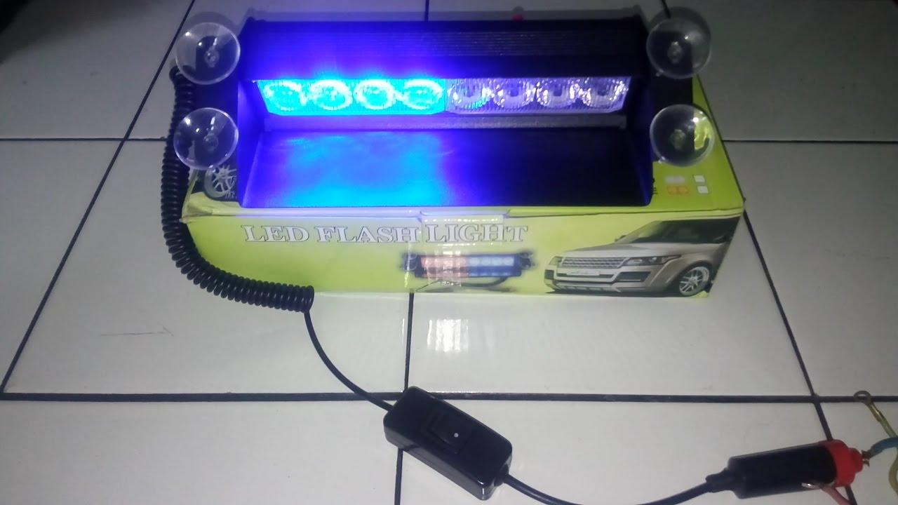 Modifikasi Mobil Lampu Strobo Dashboard 8 Led 3 Mode Tipe Hb 803b